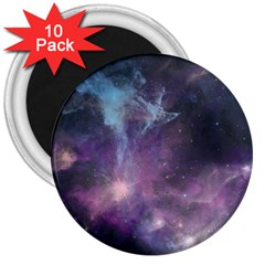 Blue Galaxy  3  Magnets (10 Pack)  by DanaeStudio