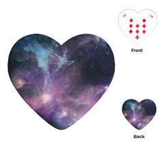 Blue Galaxy  Playing Cards (heart)  by DanaeStudio