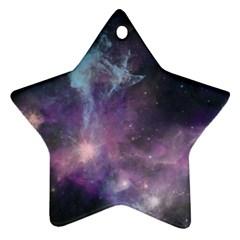 Blue Galaxy  Star Ornament (two Sides)  by DanaeStudio