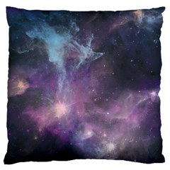 Blue Galaxy  Large Cushion Case (two Sides) by DanaeStudio