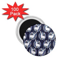 Geometric Deer Retro Pattern 1 75  Magnets (100 Pack)  by DanaeStudio