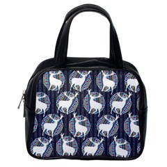 Geometric Deer Retro Pattern Classic Handbags (one Side) by DanaeStudio