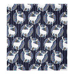 Geometric Deer Retro Pattern Shower Curtain 66  X 72  (large)  by DanaeStudio