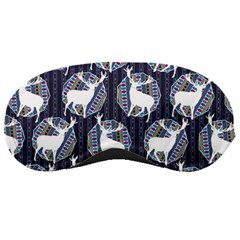 Geometric Deer Retro Pattern Sleeping Masks by DanaeStudio