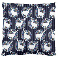 Geometric Deer Retro Pattern Large Cushion Case (two Sides) by DanaeStudio