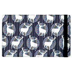 Geometric Deer Retro Pattern Apple Ipad 2 Flip Case by DanaeStudio
