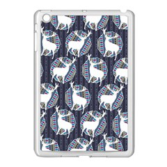 Geometric Deer Retro Pattern Apple Ipad Mini Case (white) by DanaeStudio