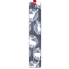 Geometric Deer Retro Pattern Large Book Marks by DanaeStudio
