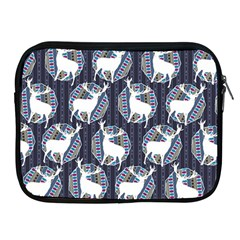 Geometric Deer Retro Pattern Apple Ipad 2/3/4 Zipper Cases by DanaeStudio