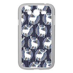 Geometric Deer Retro Pattern Samsung Galaxy Grand Duos I9082 Case (white) by DanaeStudio