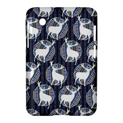 Geometric Deer Retro Pattern Samsung Galaxy Tab 2 (7 ) P3100 Hardshell Case  by DanaeStudio