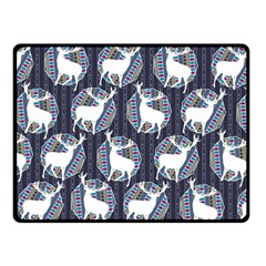 Geometric Deer Retro Pattern Double Sided Fleece Blanket (small)  by DanaeStudio