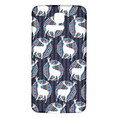 Geometric Deer Retro Pattern Samsung Galaxy S5 Back Case (white) by DanaeStudio