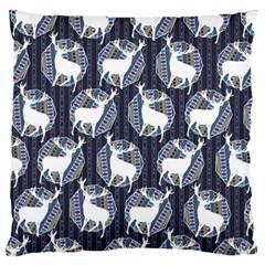 Geometric Deer Retro Pattern Standard Flano Cushion Case (one Side) by DanaeStudio