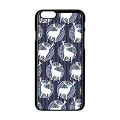 Geometric Deer Retro Pattern Apple Iphone 6/6s Black Enamel Case by DanaeStudio