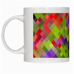Colorful Mosaic White Mugs