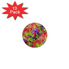 Colorful Mosaic 1  Mini Magnet (10 Pack)  by DanaeStudio