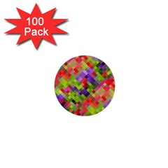 Colorful Mosaic 1  Mini Buttons (100 Pack)  by DanaeStudio