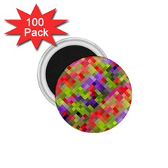 Colorful Mosaic 1 75  Magnets (100 Pack)  by DanaeStudio