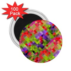 Colorful Mosaic 2 25  Magnets (100 Pack)  by DanaeStudio