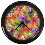 Colorful Mosaic Wall Clocks (Black)