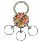 Colorful Mosaic 3-Ring Key Chains