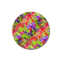 Colorful Mosaic Magnet 3  (round) by DanaeStudio