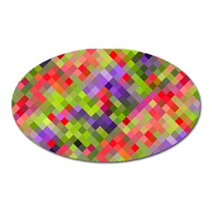 Colorful Mosaic Oval Magnet by DanaeStudio