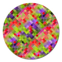 Colorful Mosaic Magnet 5  (round) by DanaeStudio