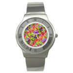 Colorful Mosaic Stainless Steel Watch