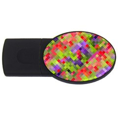 Colorful Mosaic Usb Flash Drive Oval (4 Gb)  by DanaeStudio