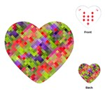 Colorful Mosaic Playing Cards (Heart)