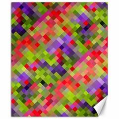 Colorful Mosaic Canvas 8  X 10  by DanaeStudio