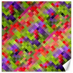 Colorful Mosaic Canvas 16  X 16   by DanaeStudio