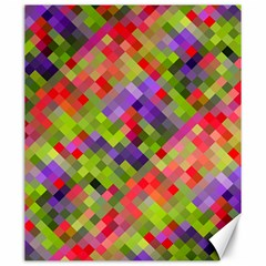 Colorful Mosaic Canvas 20  X 24   by DanaeStudio
