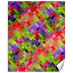 Colorful Mosaic Canvas 11  X 14   by DanaeStudio