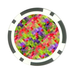 Colorful Mosaic Poker Chip Card Guards by DanaeStudio