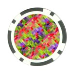 Colorful Mosaic Poker Chip Card Guards