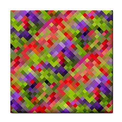 Colorful Mosaic Face Towel by DanaeStudio