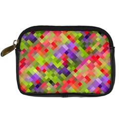Colorful Mosaic Digital Camera Cases by DanaeStudio