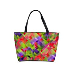 Colorful Mosaic Shoulder Handbags by DanaeStudio