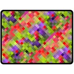 Colorful Mosaic Fleece Blanket (Large)