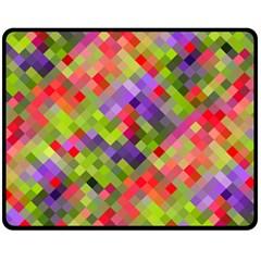 Colorful Mosaic Fleece Blanket (medium)  by DanaeStudio