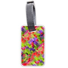 Colorful Mosaic Luggage Tags (two Sides) by DanaeStudio