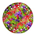 Colorful Mosaic Round Filigree Ornament (2Side)