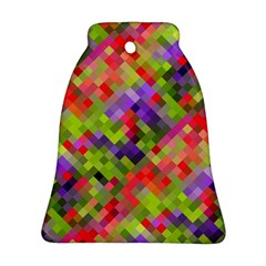 Colorful Mosaic Bell Ornament (2 Sides) by DanaeStudio