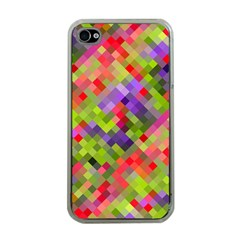 Colorful Mosaic Apple Iphone 4 Case (clear) by DanaeStudio