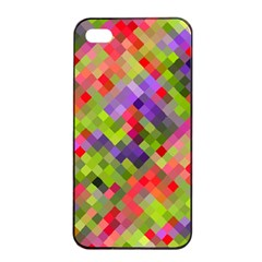 Colorful Mosaic Apple Iphone 4/4s Seamless Case (black) by DanaeStudio