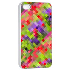 Colorful Mosaic Apple Iphone 4/4s Seamless Case (white) by DanaeStudio