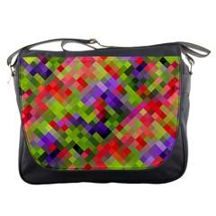 Colorful Mosaic Messenger Bags by DanaeStudio